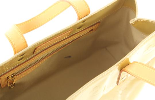 Louis Vuitton Monogram Vernis Patent Leather Reade Satchel in Yellow