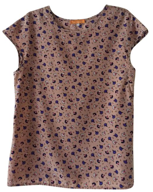 Preload https://item2.tradesy.com/images/pink-floral-blouse-size-12-l-22003106-0-1.jpg?width=400&height=650