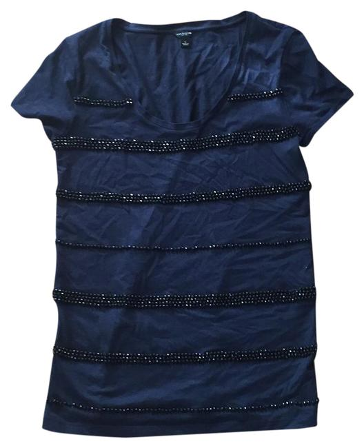 Preload https://item2.tradesy.com/images/ann-taylor-navy-beaded-tunic-size-6-s-22003111-0-1.jpg?width=400&height=650