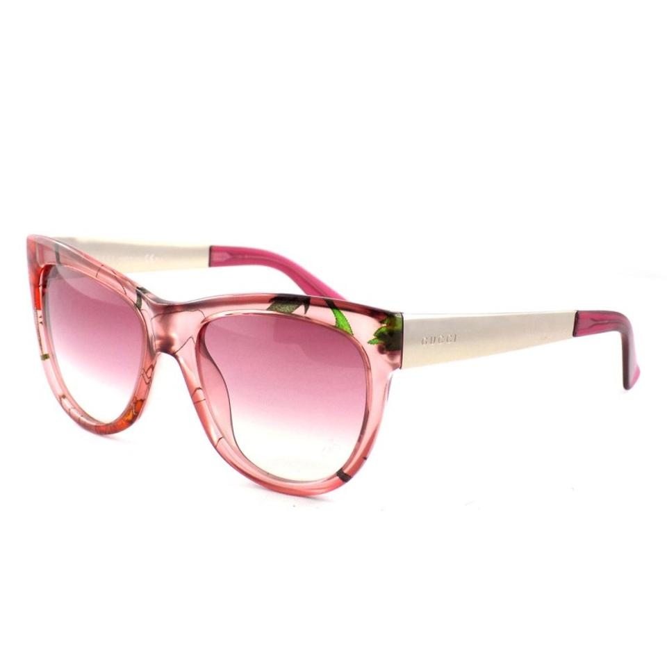 9a5e74052b2 Gucci NEW Gucci GG 3786 S Pink Floral Cat Eye Oversized Sunglasses Image 0  ...