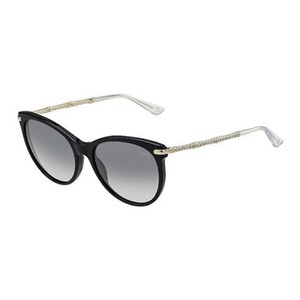 Gucci NEW Gucci GG 3771/S Rounded Black Crystal Leg Gold Bamboo Sunglasses