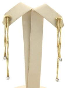 Marco Bicego Diamonds & 18kt Two Tone Gold Double Drop Earrings