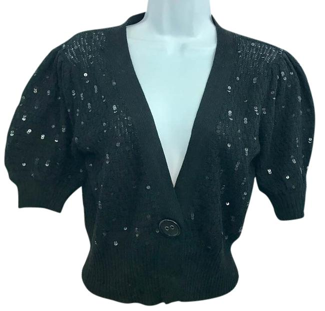 Preload https://img-static.tradesy.com/item/22003163/cache-black-embellished-knit-m-blouse-size-8-m-0-1-650-650.jpg