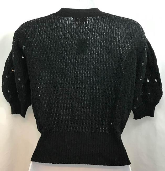 Cache Knit Top Black