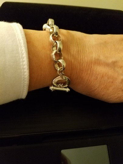 Silversmith Sterling Silver Paper Chain Bracelet