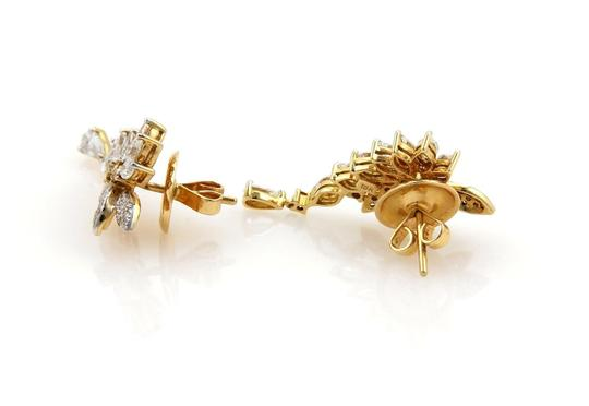 Other Estate 2.05ct Fancy Yellow & White Diamonds 18k Gold Post Drop Earring