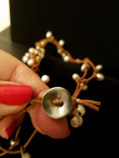 Chan Luu Fresh Water Pearls and Leather Necklace