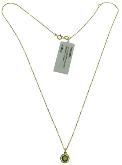 Ippolita Ippolita 18k gold diamonds & peridot mini Lollipop pendant necklace