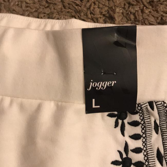 New York & Company off white and black Leggings