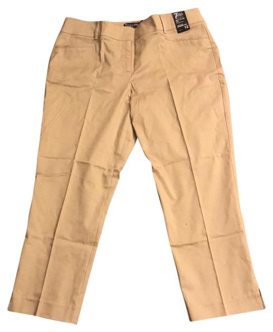 Preload https://item2.tradesy.com/images/new-york-and-company-khaki-tan-cropped-dress-pants-size-12-l-32-33-22003366-0-1.jpg?width=400&height=650