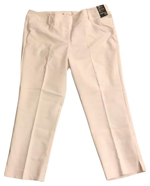 Preload https://item3.tradesy.com/images/new-york-and-company-white-cropped-leg-straight-leg-pants-size-12-l-32-33-22003372-0-1.jpg?width=400&height=650