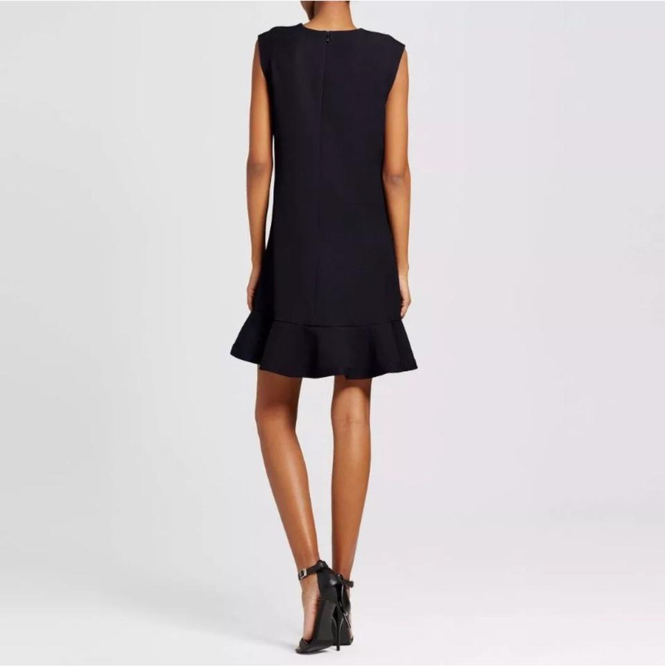 03091ccde7 Victoria Beckham for Target Black Calla Lily Floral Satin Ruffle ...