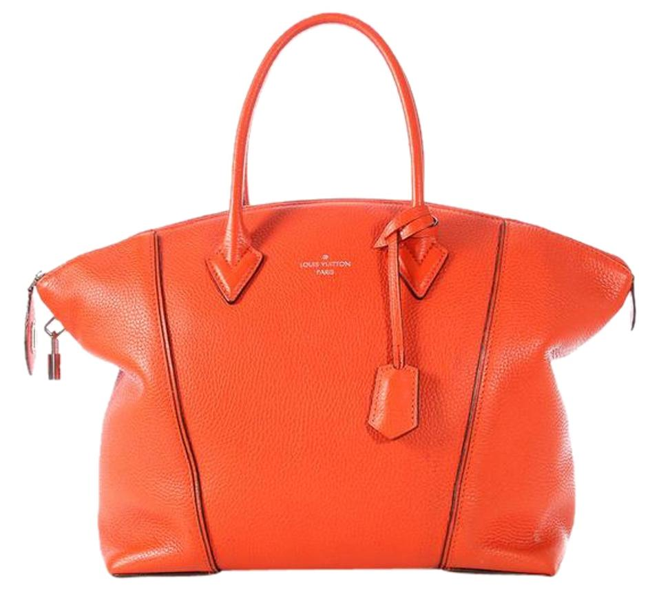 ecb6270bb0c6 Louis Vuitton Lockit Clementine Veau Cachemire Soft Mm Orange Calfskin  Leather Satchel
