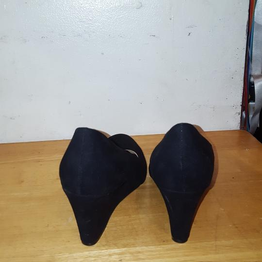 Merona Black Wedges