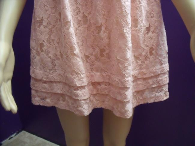 Papaya Lace Ruffles Strapless Babydoll Fairy Tunic