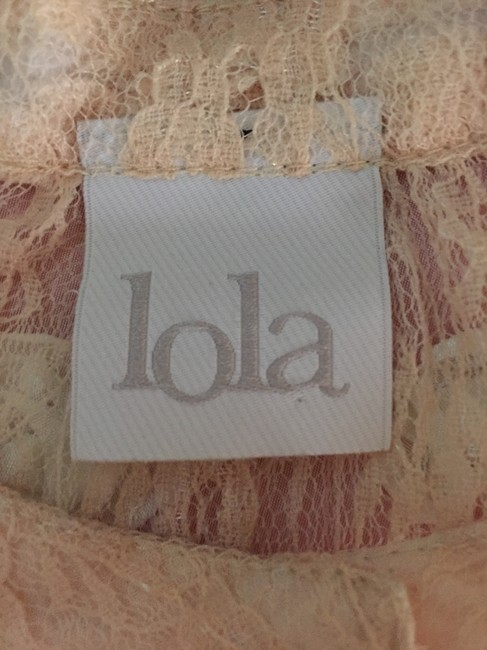 Lola by BCBG Crop Lace Top Pink