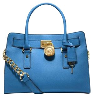 MICHAEL Michael Kors Satchel in Heritage Blue