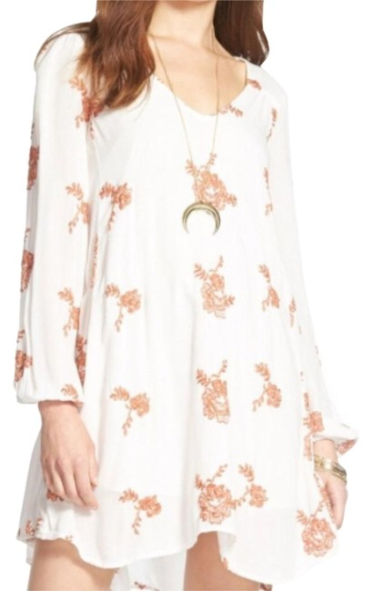 Free People short dress Cream/Orange on Tradesy