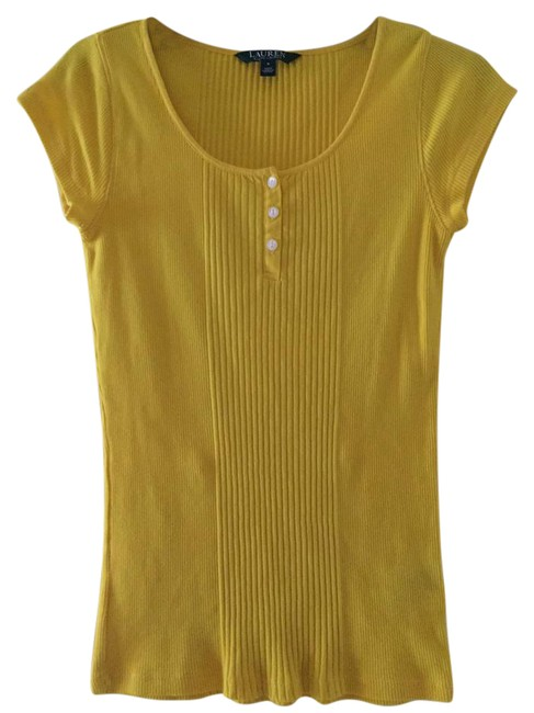 Preload https://img-static.tradesy.com/item/22003737/lauren-ralph-lauren-yellow-tee-shirt-size-4-s-0-2-650-650.jpg