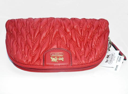 Coach Madison Chevron Quilted Nylon Cosmetic Case 46592