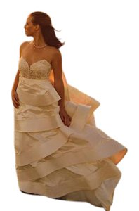 Anne Barge Blush Lace Bodice with Small Pearls; Polyester Skirt Amelia Wedding Dress Size 4 (S)