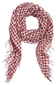 Theory Theory Plaid 100% Cotton Summer Scarf