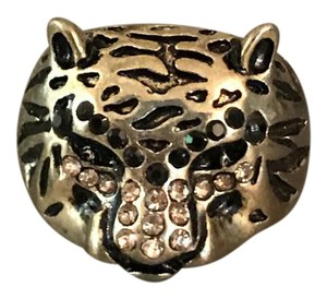 Boutique Gold Black Jeweld Cougar Ring