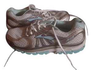 Brooks Running Grey Silver white and teal Athletic