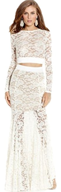 Marciano Lace Whitelace Two Piece Mermaid Enagement Dress