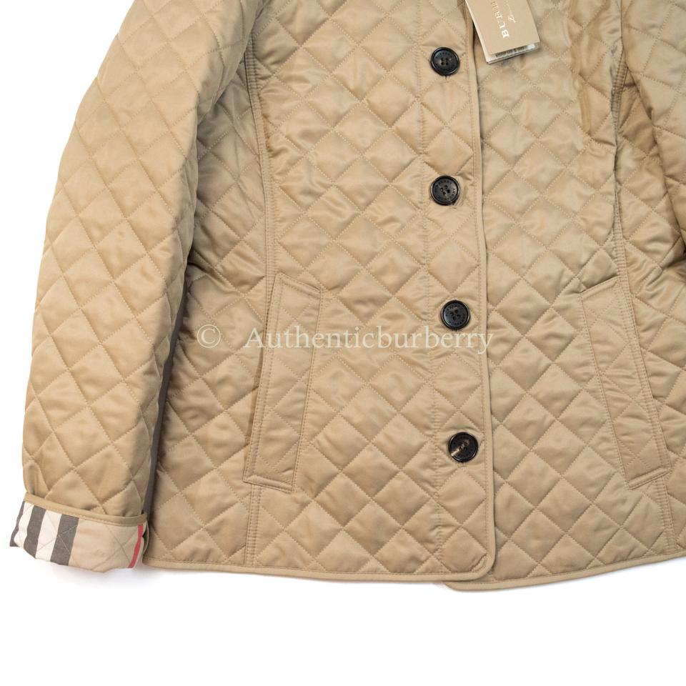 490481c2f Burberry Canvas Ashurst Classic Modern Quilted Taupe Women Jacket Size 16  (XL, Plus 0x)