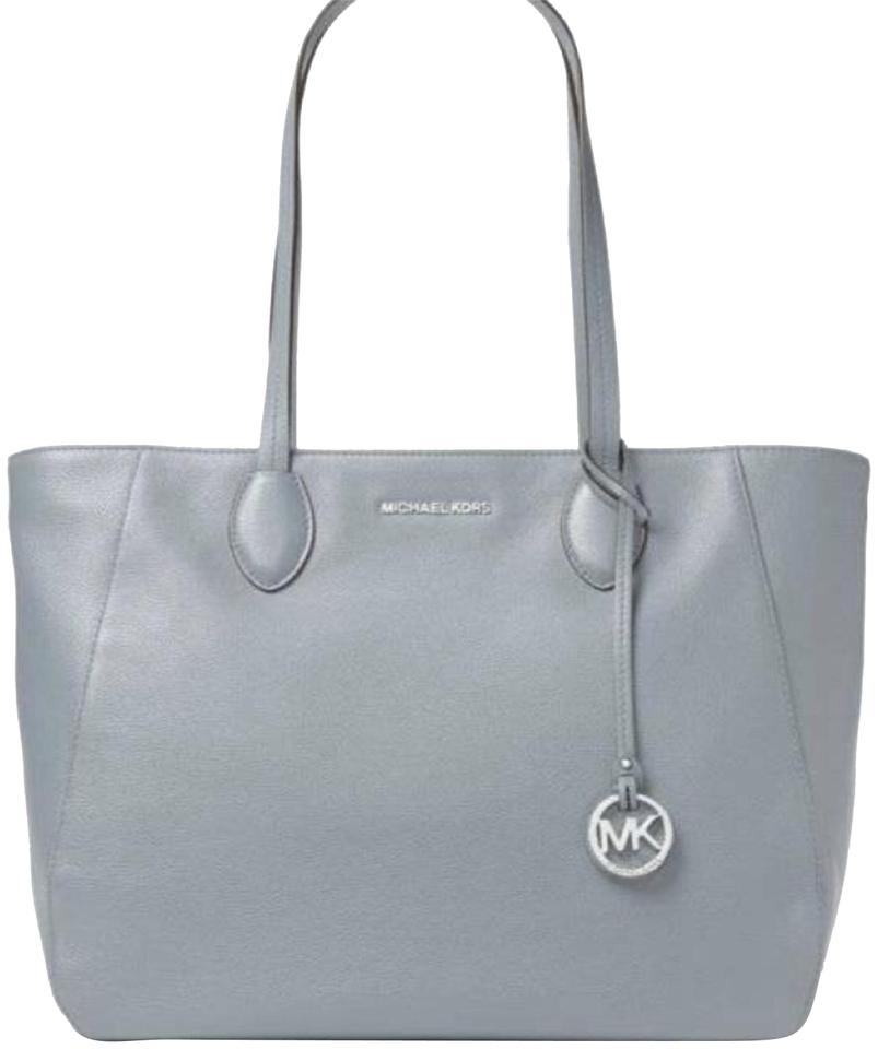 d4ef0286649b Michael Kors Ani Large Top-handle Blue Leather Tote - Tradesy