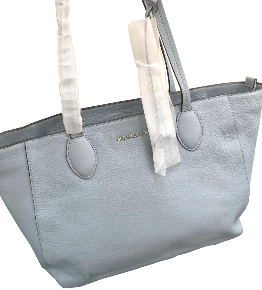 3edbc4383ca1 Michael Kors Ani Large Top-handle Blue Leather Tote - Tradesy