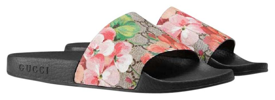 b2103c3a8 Gucci Supreme Slides Gg Bloom Slide Bloom Pursuit Slides Pursuit Blooms  Ebony Multi Sandals Image 0 ...