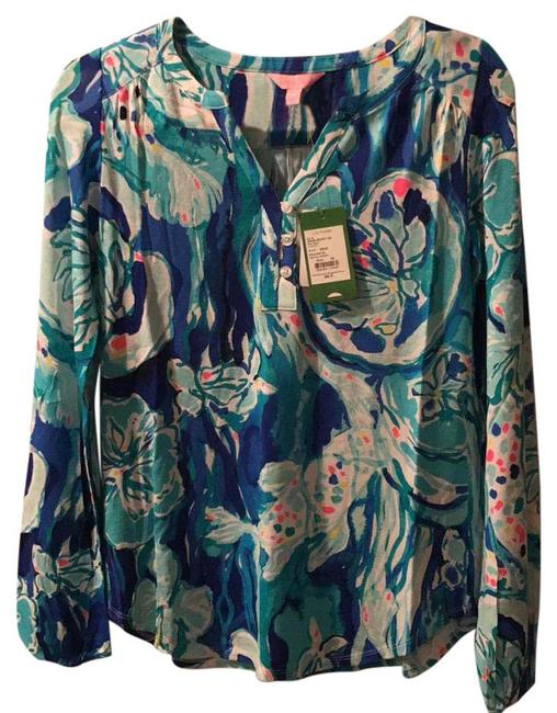 Preload https://img-static.tradesy.com/item/22004264/lilly-pulitzer-blue-lilas-blouse-size-0-xs-0-1-650-650.jpg
