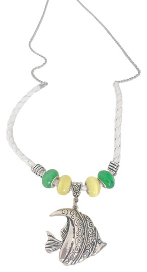 Preload https://item5.tradesy.com/images/white-aqua-melody-necklace-2200434-0-0.jpg?width=440&height=440