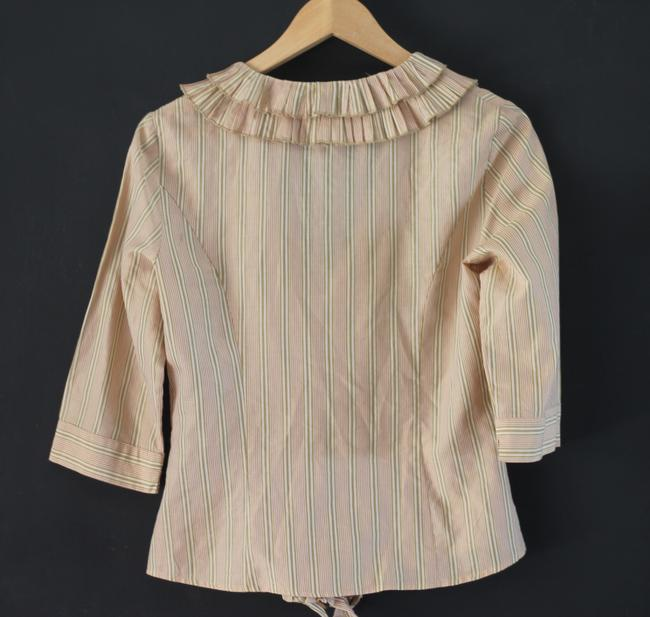 Max Mara Weekend Ruffle Top Yellow Stripe Image 2