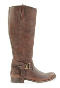 Frye Style 76791 Stonewash Leather Lined Made In Mexico Brown Boots