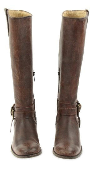 Frye Style 76791 Stonewash Leather Lined Made In Mexico Brown Boots Image 1