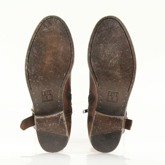 Frye Style 76791 Stonewash Leather Lined Made In Mexico Brown Boots Image 10