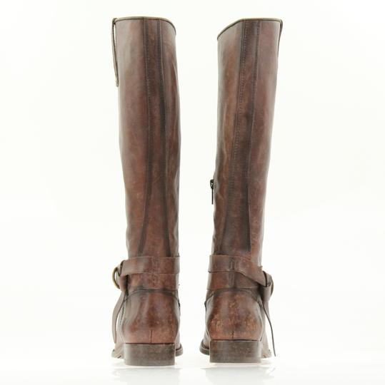 Frye Style 76791 Stonewash Leather Lined Made In Mexico Brown Boots Image 2