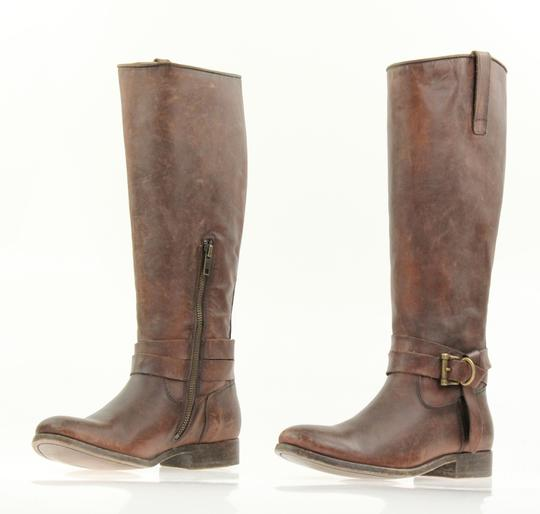 Frye Style 76791 Stonewash Leather Lined Made In Mexico Brown Boots Image 3