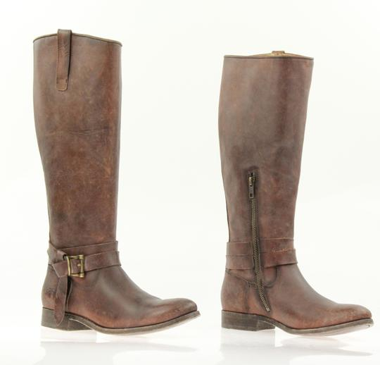 Frye Style 76791 Stonewash Leather Lined Made In Mexico Brown Boots Image 4