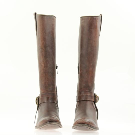 Frye Style 76791 Stonewash Leather Lined Made In Mexico Brown Boots Image 5