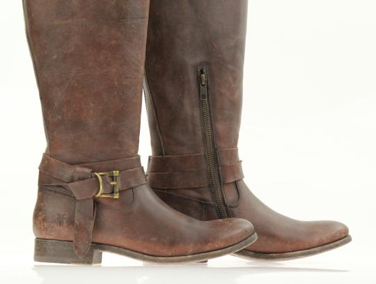 Frye Style 76791 Stonewash Leather Lined Made In Mexico Brown Boots Image 6