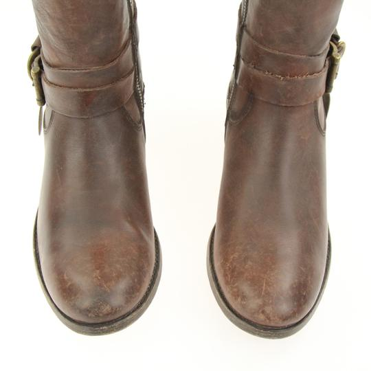 Frye Style 76791 Stonewash Leather Lined Made In Mexico Brown Boots Image 7