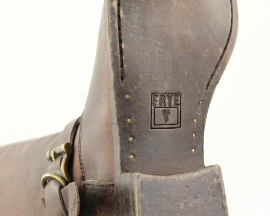 Frye Style 76791 Stonewash Leather Lined Made In Mexico Brown Boots Image 9