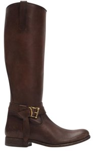 Frye Style 76791 Stonewash Leather Lined Made In Mexico Redwood Boots
