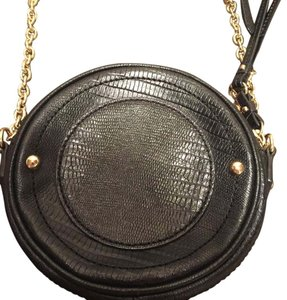 Juicy Couture Canteen Leather Gold Hardware Cross Body Bag