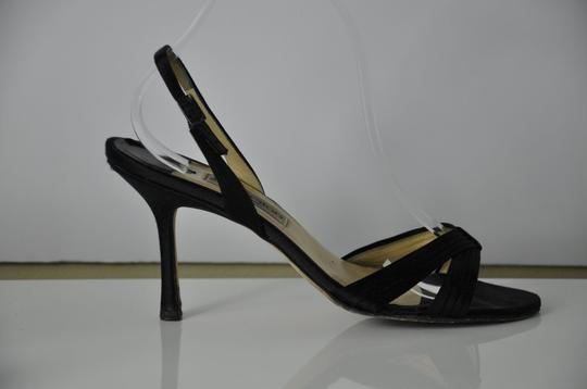 Jimmy Choo Satin Strappy Size 40.5 Great Price Black Sandals