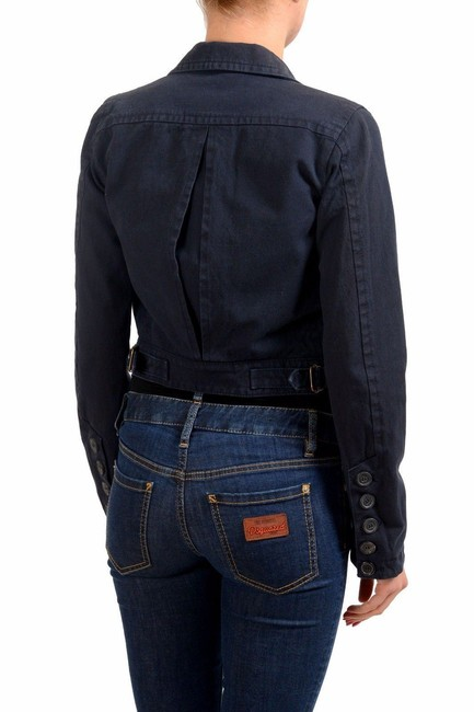 1d1a96f9 Dsquared2 Navy Button Down Cropped Women's Basic Jacket Size 4 (S ...